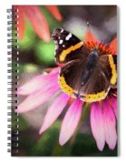 The Regal Red Admiral Spiral Notebook