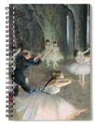 The Rehearsal Of The Ballet On Stage Spiral Notebook