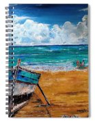 The Resting Boat And The Beach Holidays Spiral Notebook