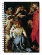 The Resurrection Of Lazarus Spiral Notebook