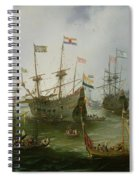 The Return To Amsterdam Of The Second Expedition To The East Indies Spiral Notebook