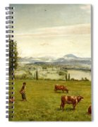 The Rhine Valley Near Sackingen Spiral Notebook