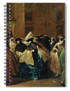 The Ridotto In Venice With Masked Figures Conversing Spiral Notebook