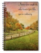 The Right Words To Live By Spiral Notebook