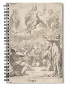 The Risen Christ Between The Virgin And St. Joseph Appearing To St. Peter And Other Apostles Spiral Notebook