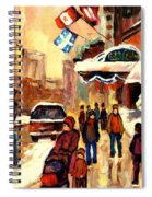 The Ritz Carlton Montreal Streetscene Spiral Notebook