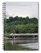 The River And Bridges At Burton On Trent Spiral Notebook