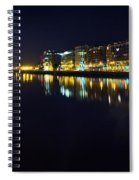The River Liffey Night Romance Spiral Notebook