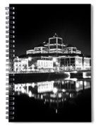 The River Liffey Reflections 2 Bw Spiral Notebook