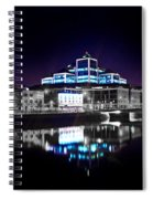 The River Liffey Reflections 2 V2 Spiral Notebook