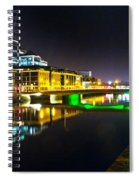 The River Liffey Reflections 3 Spiral Notebook