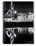 The River Liffey Reflections Bw Spiral Notebook