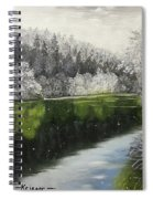 Grayscale The River Spiral Notebook