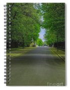 The Road On A Border Of Royal Park Spiral Notebook
