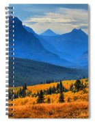The Road To Glacier Spiral Notebook