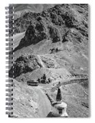 The Road To Ladakh Bw Spiral Notebook