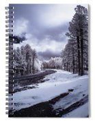 The Road To Snow Spiral Notebook