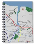 The Rochester Pubway Map Spiral Notebook