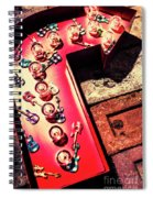The Rock N Roll Concert Neon Spiral Notebook