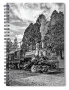 The Rocket Monochrome Spiral Notebook