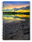 The Rockies Reflected At Lake Annettee Spiral Notebook