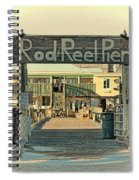 The Rod And Reel Pier Vintage   Spiral Notebook