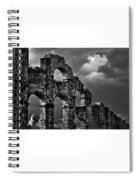 The Roman Aqueduct At Aspendos, Turkey.    Black And White Spiral Notebook