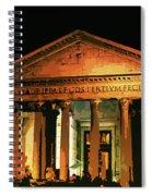 The Roman Pantheon At Night Spiral Notebook