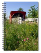 The Roseman Bridge In Madison County Iowa Spiral Notebook