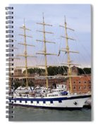 The Royal Clipper Docked In Venice Italy Spiral Notebook
