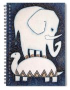 An Elephant On A Turtle Spiral Notebook