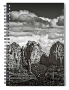 The Rugged Red Rocks In Black And White  Spiral Notebook