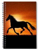 The Running Horse Background Spiral Notebook