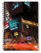 The Running Of The Taxis Spiral Notebook