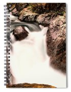 The Rush Of Water And The Cool Wet Wind Spiral Notebook