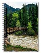 The Rushing Animas River - Colorado Spiral Notebook