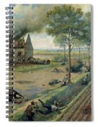 The Russian Cavalry Fighting The Germans In A Village In 1915 Spiral Notebook