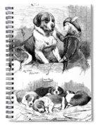 The Saint Bernard Club Dog Show Spiral Notebook
