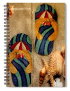 The Sands Of Summer - Flip Flops Spiral Notebook