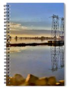 The Saugus River At Dawn Spiral Notebook