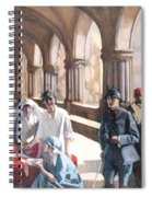 The Scottish Women's Hospital - In The Cloister Of The Abbaye At Royaumont. Spiral Notebook