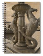 The Seahorses 3 Sepia Spiral Notebook