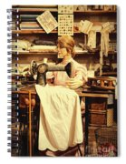 The Seamstress At Work Spiral Notebook