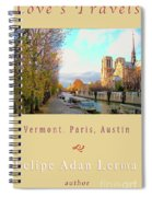 The Seine And Quay Beside Notre Dame, Autumn Cover Art Spiral Notebook