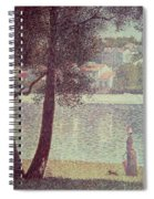 The Seine At Courbevoie Spiral Notebook
