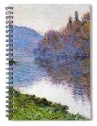 The Seine At Jenfosse Spiral Notebook
