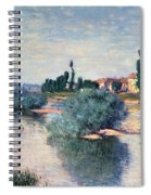 The Seine At Lavacourt Spiral Notebook