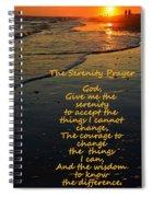 The Serenity Prayer Spiral Notebook