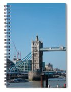 The Shard With Tower Bridge Spiral Notebook