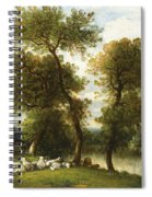 The Shepherd's Break With  His Sheep Spiral Notebook